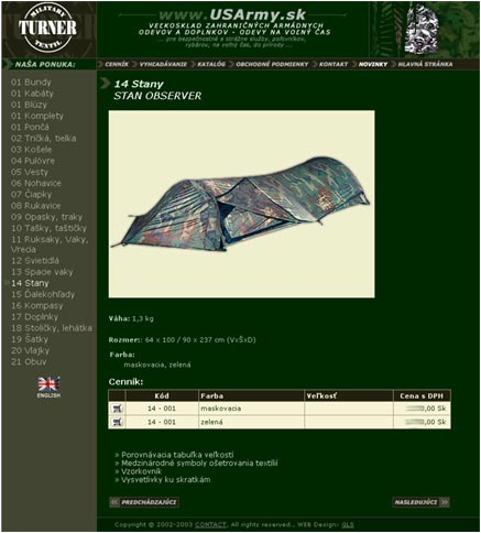 USArmy.sk - online-shop